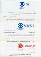 JOHNNY CASH THE JOHNNY CASH SHOW RARE ORIGINAL 1976 CBS TV PRESS MATERIAL