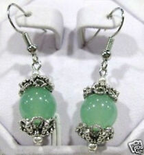 New style Beautiful fashion Handmade Tibet Silver green bead Earrings jewellery