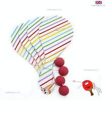 4x Holz Paddel Schläger und Ball Kinder Partypack Spielzeug Mädchen Party UK