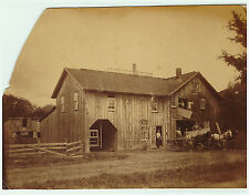 SUPER - Photo  - Johnson Sawmill - Collins NY  ca 1870  Albumen Erie County
