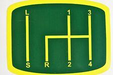 Traktor Schlepper Aufkleber Schaltbild Deutz D15 D25 D30 D40 F grün