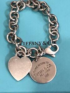 "Authentic Tiffany & Co. 7"" Silver Charm Bracelet"