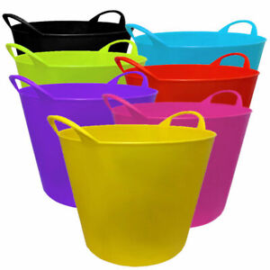 LARGE FLEXI TUBS HOME GARDEN /LOUNDRY /PAPER/SHOES/STORGE BUCKE T 26L