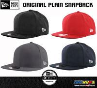 New Era 9Fifty Plain Blank Snapback Hat Original Uniform Cap Original Black Navy