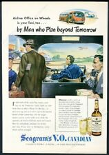 1946 streamlined future bus plane art Seagram's VO Whisky vintage print ad