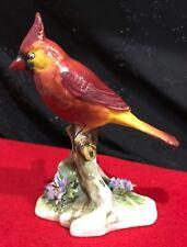 "Royal Adderley ""Cardinal� Porcelain Bird Figurine"