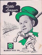 March 1955 LITTLE LEAGUER Offcl Publ of Little League Baseball Williamsport PA