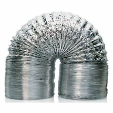 "Garden Smart Aluminum Ducting 8"" Inch x 25' Feet Air Ventilation Clamps Included"