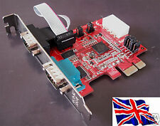 RS232 2 PORTE SERIALE PCIe PCI Express Card w / Power