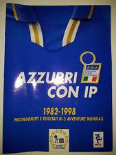 CALCIATORI 1998 AZZURRI CON IP ALBUM COMPLETO CON FIGURINE DA ATTACCARE + 27 FIG
