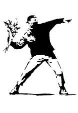 A3 Art Poster -  Flower Thrower    -  Banksy Print