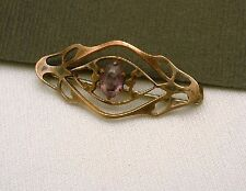 Gold Filled Slade and Wolfe Beauty Pin Amethyst Vintage