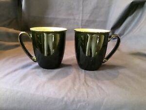 DENBY  2 X JET BLACK MUGS TAPERED ( MORE AVAILABLE)