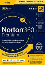 NORTON 360 PREMIUM SECURITY 2020 - 10 PC DEVICES -  WITH SECURE VPN - Download