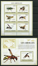 More details for comoros comores 2009 mnh bees 6v m/s 1v s/s abeilles bee insects stamps