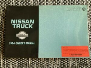 1994 Nissan Truck Owner's Manual