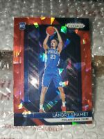 2018-19 Landry Shamet Rookie Card Panini Prizm Red Cracked Ice  #199 not silver