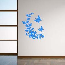 Siège de toilette Autocollant Mural salle de bains Stickers décoration Bleu DC