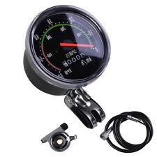 Vintage Waterproof Bike Bicycle Speedometer Analog Mechanical Odometer Hardware