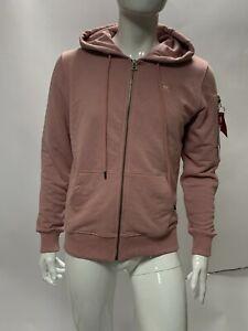 Men's Alpha Industries Pink Zip Through Hoodie - Size Large - BNWOT