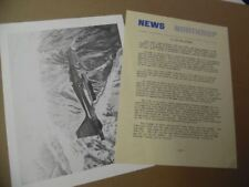 1970s Northrup F-5 F-5E F-5F Tiger AircraftPhoto Spec Sheet Press Materials Lot