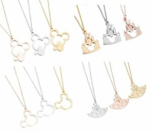 MICKEY MOUSE EARS DREAM CASTLE PENDANT NECKLACE & GIFT BAG