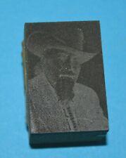 Printing Letterpress Printers Block Man in Cowboy Hat & Goatee