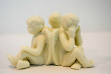 Three Angels Candle Holder Bisque Porcelain - Classic Figure