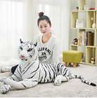 Simulation White Tiger Plush Toy Cute Stuffed Animal Pillow Cushion Baby Doll