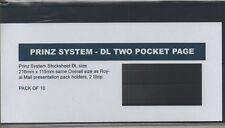 10 X Prinz Large DL Size Stockcards 216 X 115mm - 2 Strip Same Size as RM Cards
