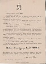 1901 Faire-part décès Marie-Suzanne LAGAÜZEIRE née JARRY - Birac-sur-Trec (47)