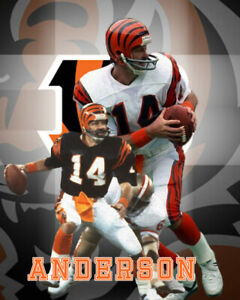 Cincinnati Bengals Lithograph print of Ken Anderson 2021