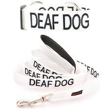 Dog Collar Short Long Leash Color Coded DEAF DOG Assist Aid High Strength Nylon