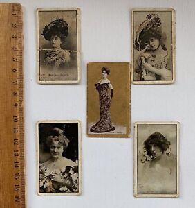 'Milo' Actresses Cigarette Cards One Gold B/ground Snider Abrahams  LOTx5