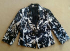 CARLA ZAMPATTI Rose button JACKET. Sz 10. Black and White. As NEW