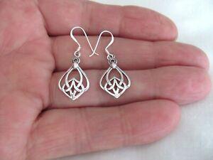 Sterling Silver Celtic Knot dangle earrings #9507