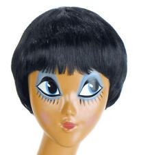 Ladies Short Black Wig Short Bob Secretary Mia Pulp Fiction Fancy Dress