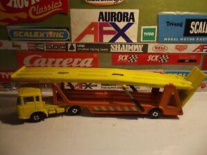 Lesney Matchbox superkings k11 DAF car Transporter amarillo//naranja