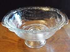 Clear Footed Depression Serving Bowl 9 3/8 Inches Wide