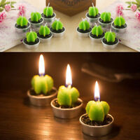 Mini Cactus Plant Grape Candles Scented Candle Tea Light Wedding Dinner Decor