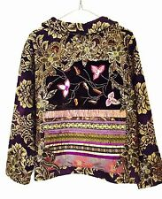 Vintage Woman Embroidery Jacquard Jacket