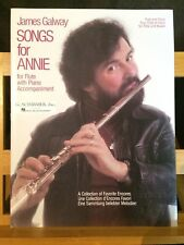 James Galway Songs for Annie recueil partition flûte et piano éditions Schirmer
