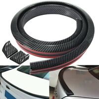 Carbon Fiber Soft Styling Car Rear Roof Trunk Spoiler Wing Lip Trim Sticker Kit