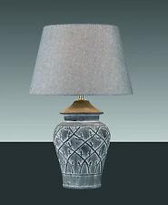 Lámpara de MESA h66cm o43cm vasenlampe hockerlampe Taburete Marrón