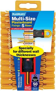 Plasplugs Multi-Size Plasterboard Fixings (50)