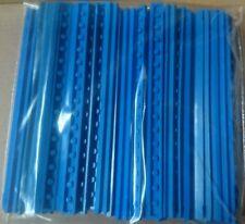 LEGO  40 Eisenbahn Schienen  gerade 4,5V in blau 40 Teile Konvolut Kg #S8