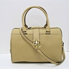 Ralph Lauren  258 NWT Camel Pebbled Leather Top Handle Large Zip Shoulder  Bag c4a2e1e89d