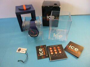 ICE QUARTZ WATCH Azure Blue Silicone Unisex * Fashion & Sports Wrist Watch