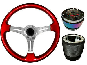 Steering Wheel Boss TS Red Chrome + Neo Quick Release NC for FORD MAVERICK 024