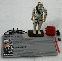 GI Joe Cobra Storm Shadow V2 Action Figure ARAH 1988 Complete W/ Cndn File Card